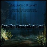 16 Aquatic Plants PNG Set 2 by FrostBo