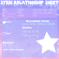 Zyrri Relationship Guide - PNG Version by MoonPrincessu
