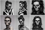 Skeleton Makeup Model Pack by crissie2389