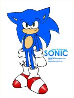 Different Style Sonic colored by mazeko