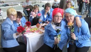 Otakon 09 - Ouran Teaparty by Jujubeeoflove