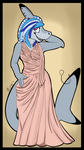 Albino dress commission by Shadowfoxnjp