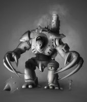 Giant evil bot by Snoeffel