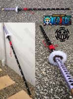 Trafalgar Law nodachi sword prop commission 1:1 by GirlyGamerAU