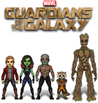The Guardians of the Galaxy by haydnc95