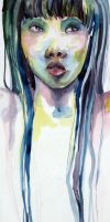 watercolor self portrait 1 by smile-sun-raiyne
