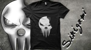 Qwertee mockup Shinigami Mask by V.M. by The-Shadow-of-Dragon