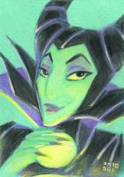 Maleficent Color Sketch Card by LEXLOTHOR
