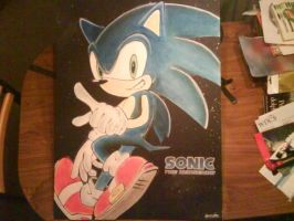 My finished A1 Sonic picture by sonicwindartist