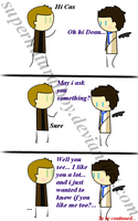 Destiel Comic The Confession part1 by supernaturalboy