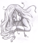 Scary emo girl sketch :P by suicidal-voodoo-doll