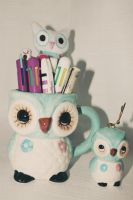 Owl mug and ornament by apparate