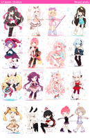 Crayon Chibis [PLS zOOM IN iTS SO BLURRY] by AmaiCandy