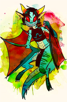 Terezi is a dragon by Skypup