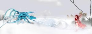 The Snow Dragon 2048x768 by PoSmedley