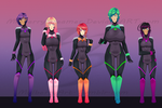 Neon Squad Lineup (Updated) by MulberryDreamer