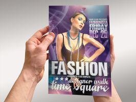 Fashionista Event Flyer by Lemongraphic