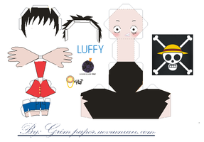 luffy pattern by Grim-paper