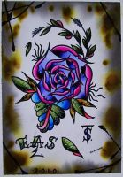 Vortex Rose 2010 by EricScsavnickiTattoo