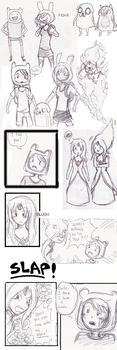 AdventureTime Sketchdump by sunburnedice