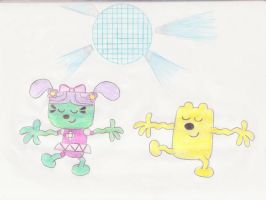 Wubbzy and Daizy dancing by wamaluiwal