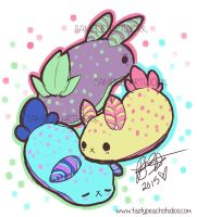Sketch: Fuwakui Fruit Gummy Sea Bunnies by MoogleGurl