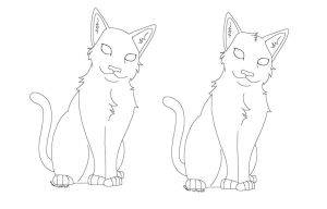Free Cat Lineart by any204