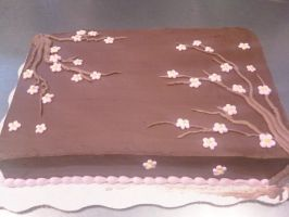 Cherry Blossoms Cake by AingelCakes