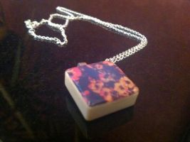 Floral Scrabble Tile Necklace by DownTheRabbitHoleUk
