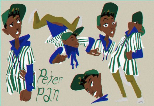 Peter Pan Model Sheet by JSimmy