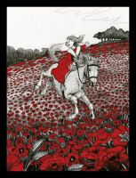 P is for Pretty Pony Prancing Through the Poppies by brightredrose