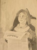 A Girl Reading by ginqueeen