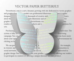 Vector Paper Butterfly by lazunov