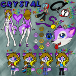 Crystal Ookami Wolf Ref 2013 by BlueWaterRose