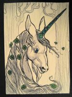 Another Unicorn ACEO by CindarellaPop