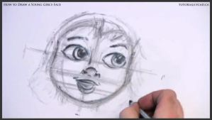 Learn How to Draw Young Girl's Face 014 by drawingcourse