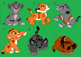 Cubs From My Lion Adopts 3 (OPEN) by Nikki148