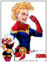Comic Oasis Cardstock Captain Marvel by KidNotorious