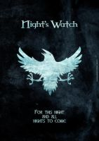 Nights Watch small poster by Onelansou