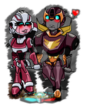 TFA: Chibi Couple 2 by LochCamaen