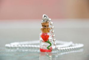 Beauty and the Beast Inspired Rose Necklace by IvrinielsArtNCosplay