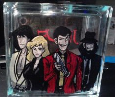 Lupin the 3rd Glass Cube by ArseneLupinlll