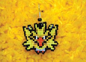 Zapdos Earring by purpleyoshi1