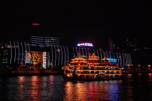 Shanghai's Bund by night 1 by wildplaces
