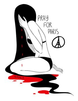 Pray For Paris by Natoucha