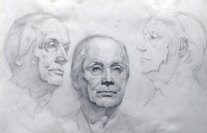 Study of Male Head -2 by CWbridd