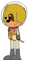 SPACE PUPPY IN COLOR by LordRobrainiac