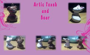 Bear and Artic Foxeh Charms by Chill-morte