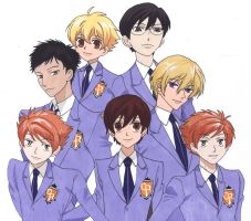Ouran Highschool Host Club by Miraby