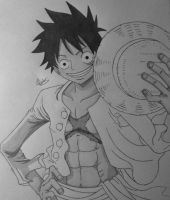 Monkey D. Luffy Shading WIP by Conzibar